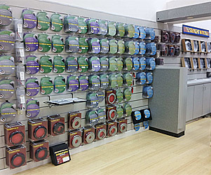 Staright Wire retail wall display